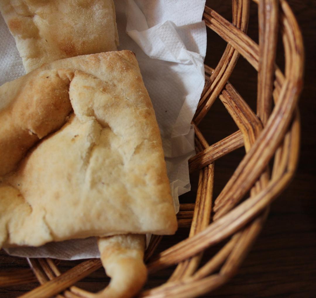 En kurv med brød