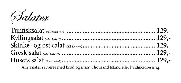 Gamle Nabo - meny - 12 - Salater
