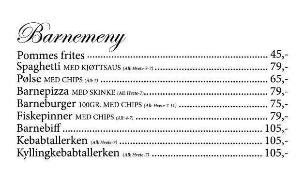 Gamle Nabo - meny - 13 - Barnemeny