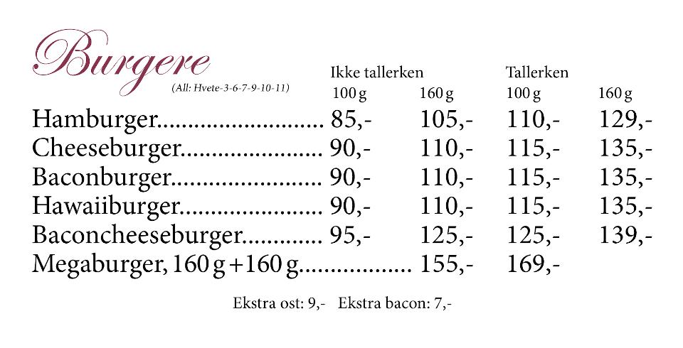 Gamle Nabo Jessheim - Meny - 11 - Burgere