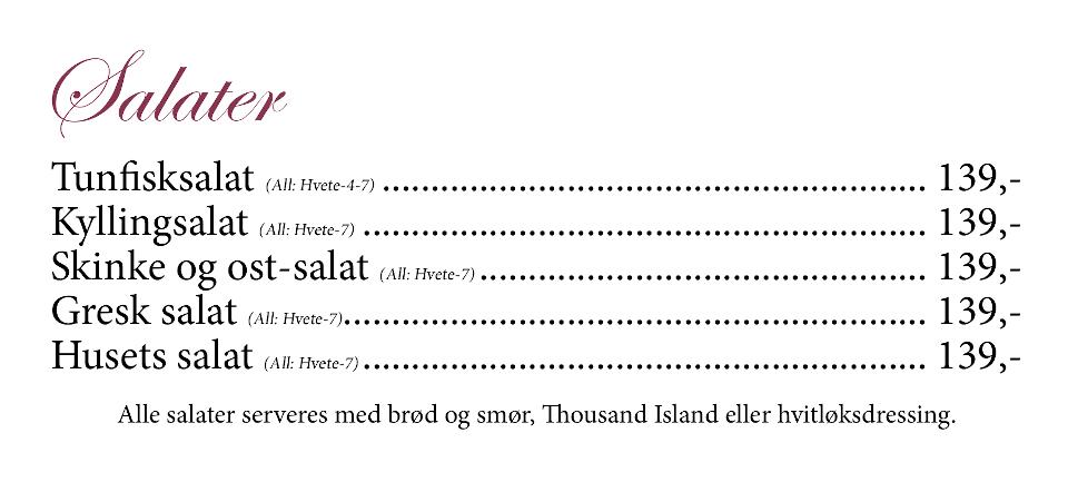 Gamle Nabo Jessheim - Meny - 12 - Salater